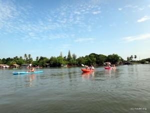 Start to a day of kayaking at Ao Thalane.