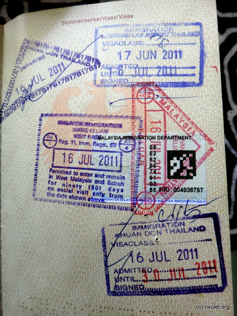 Wasted page of my passport.