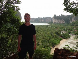 At the viewpoint of Railay.