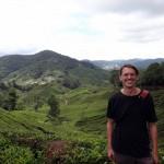 Arriving at a tea plantation.