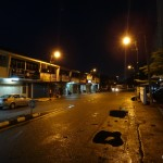 Street at 7:45 pm.
