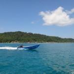 Arriving at Pulau Perhentian.