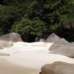 Water. Sand. Rocks.
