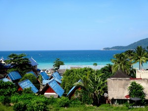 View from the Bintang restaurant.