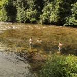 Refreshing river at the camp.