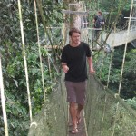 Canopy walk on the last day.