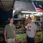 Tim & Fadly at one of the local food expeditions!