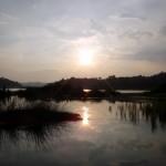 Lake Chini at sunset.