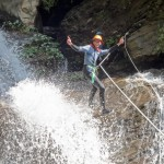 Don't do that, if your guide is not holding your rope tight!
