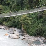 Bridge to the Annapurna circuit.