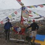 Micha & Georg at the Manaslu base camp. Who is the girl ;-)