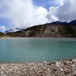 Manaslu glacier lake.