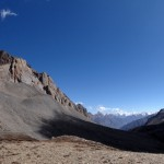 Panoramic view into Tibet.