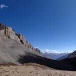 Panoramic view into Tibet.