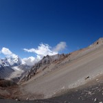 Panoramic view into Nepal.