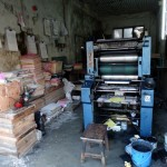 Cool old print shop.