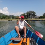 Boat trip on Pokhara lake.