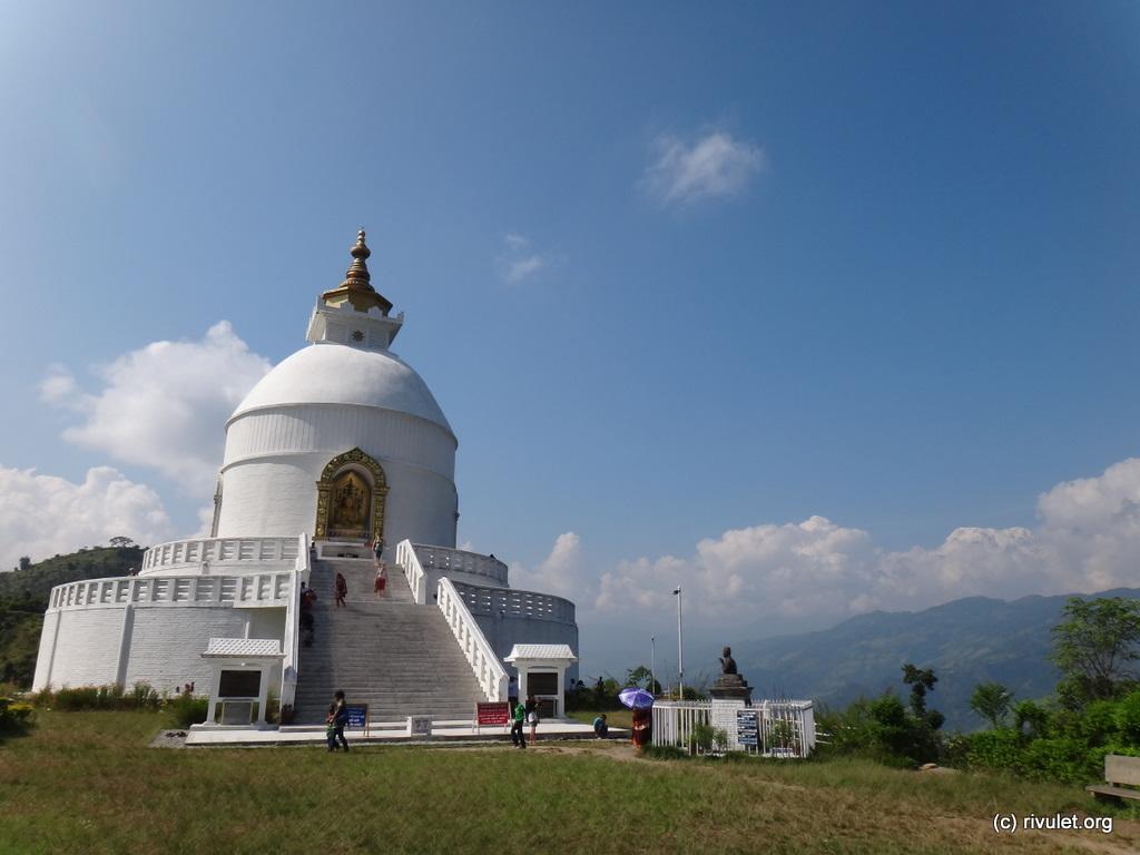 ... to the World Peace Pagoda.