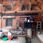 Restoration in the Royal Palace of Patans's Durbar Square.