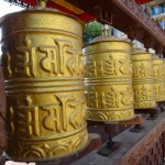 Prayer wheels.