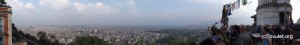 View over Kathmandu from the top.