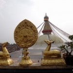 The stupa in Bodhnath.