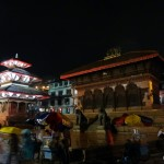 Durbar Square of Kathmandu at night.
