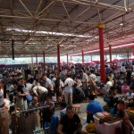A flea market.