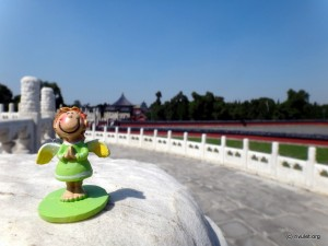 My guardian angel in the Temple of Heaven.