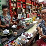 Chen and her mother in the tea shop.