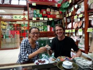 Tasting delicious tea :-)
