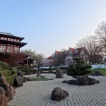 Japanes garden in Bad Langensalza. In the back is our home base.