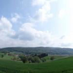 Panoramic shot along our hike.