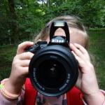 Emily taking photos.