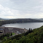 First view of the Edersee dam.