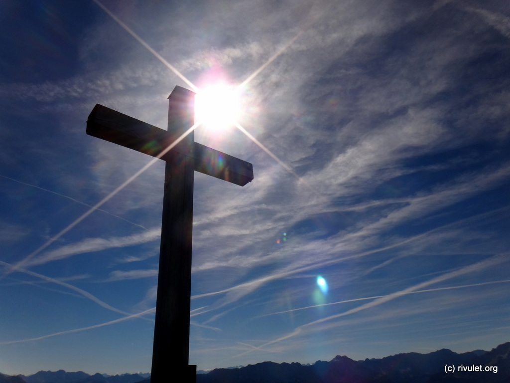 Cross at the top of the Krottenkopf.